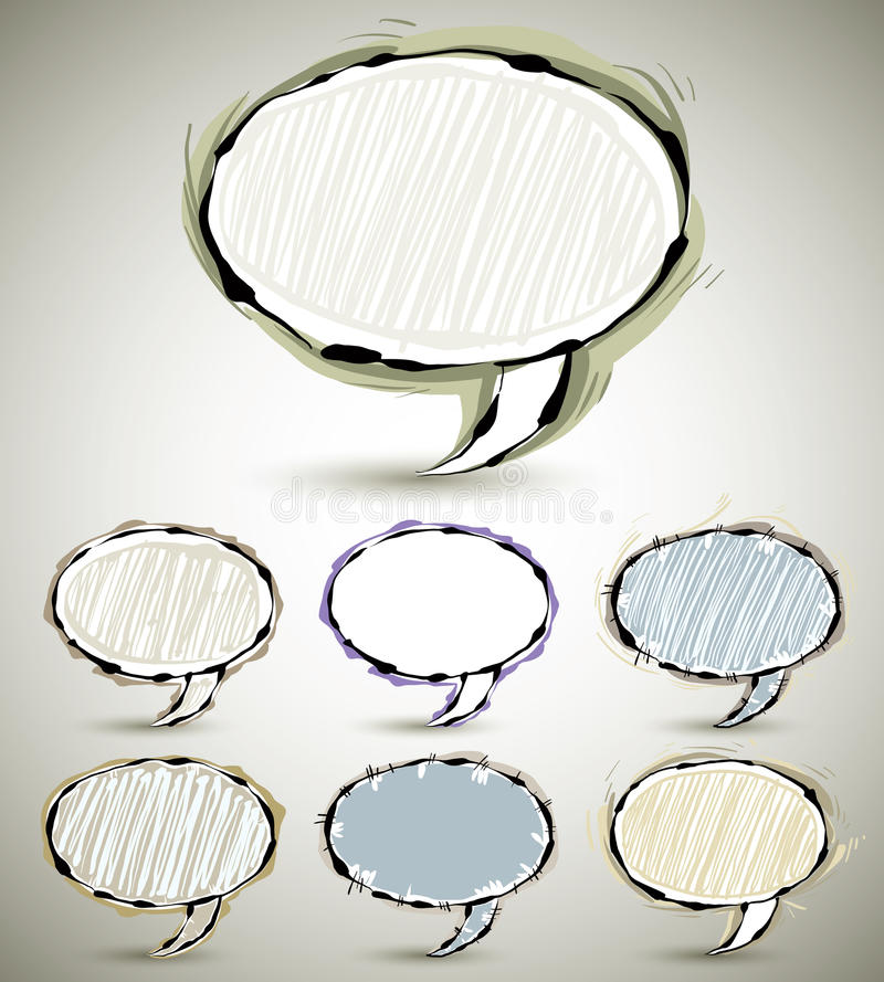 Download Sketch Style Speech Bubbles. Stock Vector - Image: 26670551
