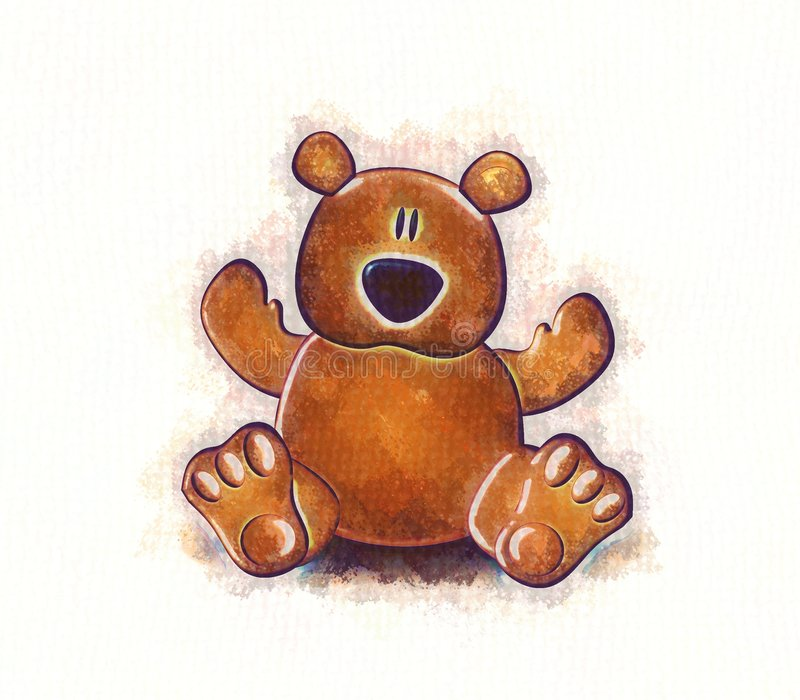 sketch teddy bear royalty ilustracja