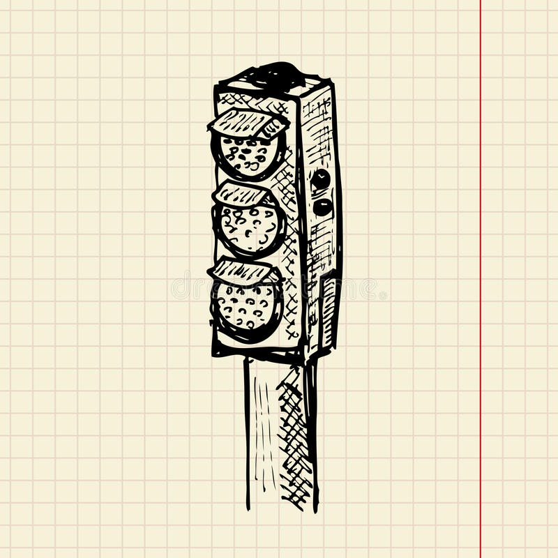 Download Sketch traffic lights stock vector. Illustration of security - 23322601