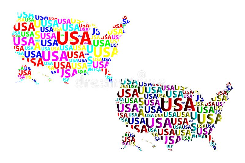 download map of usa vector illustration stock illustration illustration of north cartography