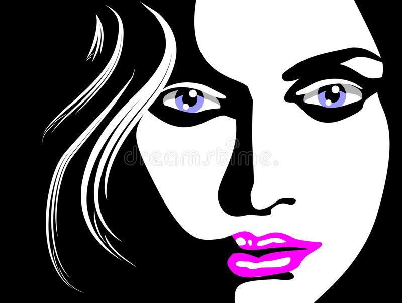 Download Sketch of woman face stock vector. Image of element, isolated - 28815351