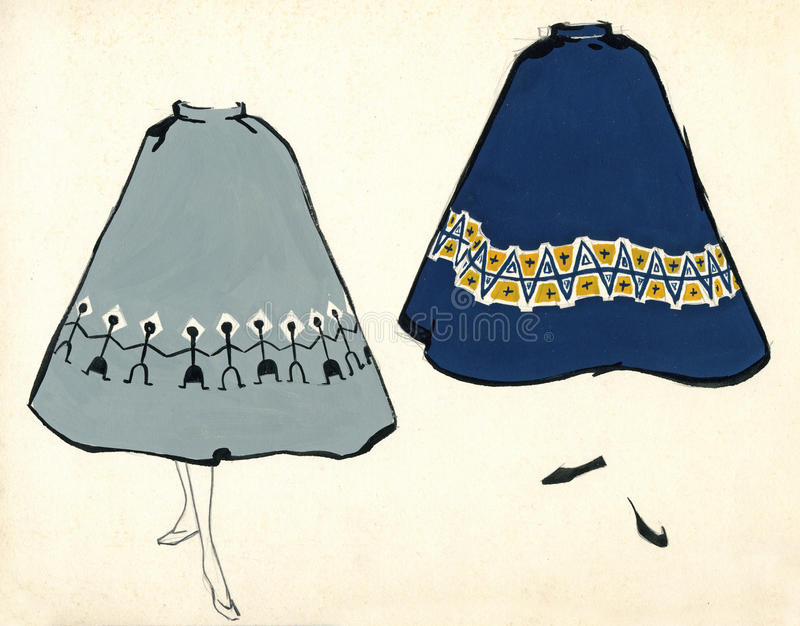 Download Sketch of a woman skirt stock illustration. Image of creativity - 23099671
