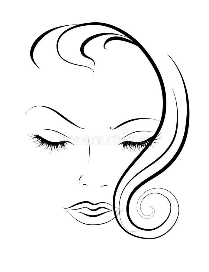 Sketch of women royalty free illustration