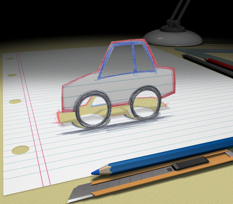 Download Sketch your dream (car) stock image. Image of sketch, project - 2853203