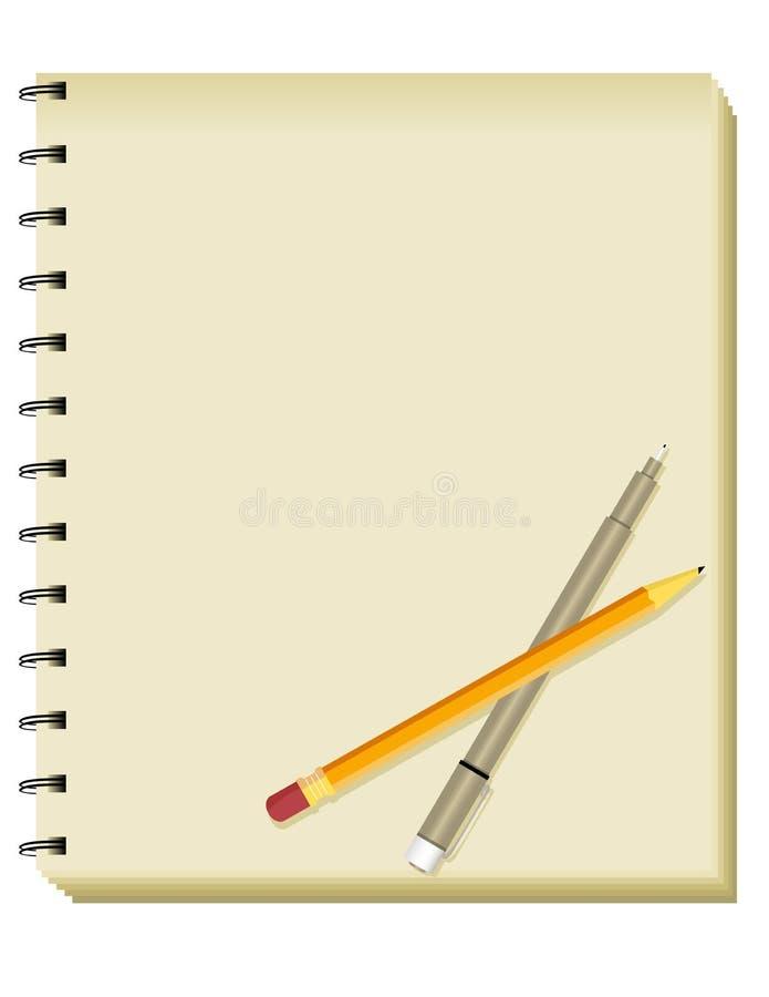 Sketchbook/caderno espirais imagens de stock royalty free