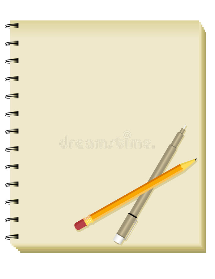 Sketchbook/cahier spiralés images libres de droits