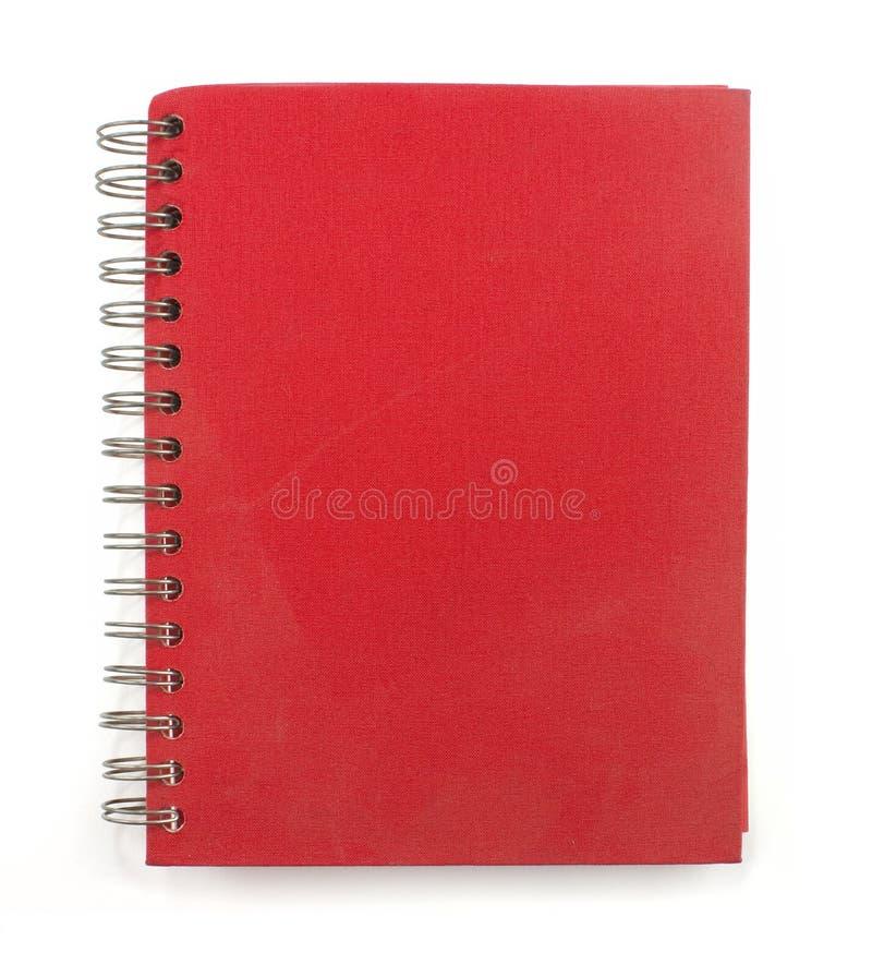 Sketchbook rouge de wirobound images libres de droits