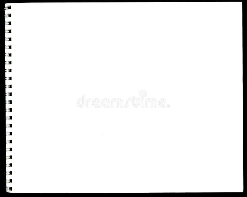 Sketchbook suportado espiral fotografia de stock royalty free