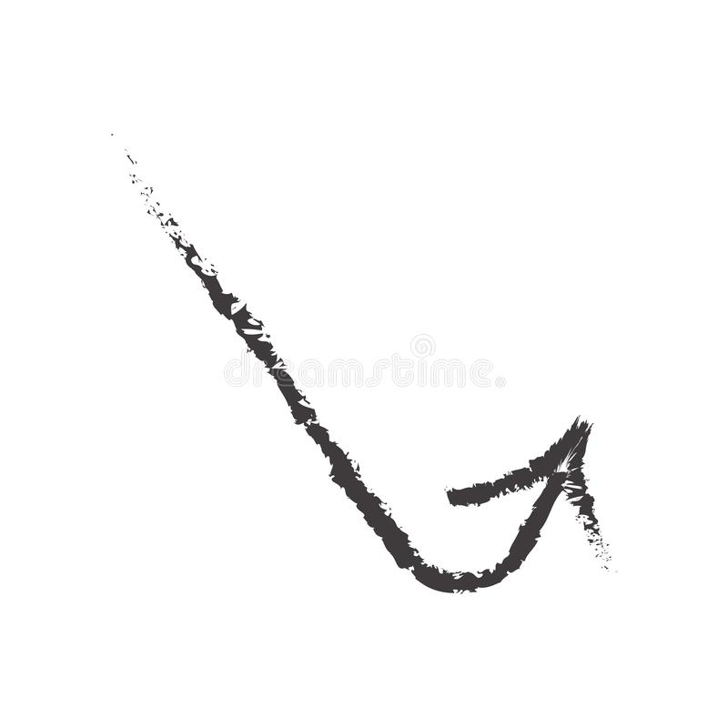 Sketched arrow icon vector sign and symbol isolated on white background, Sketched arrow logo concept vector illustration