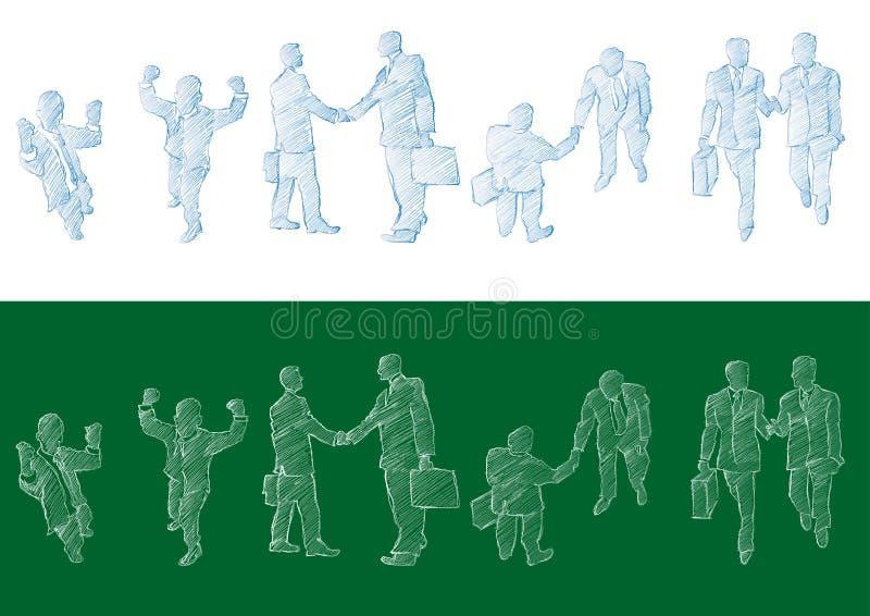 Download Sketched Businessmen Royalty Free Stock Image - Image: 6413176