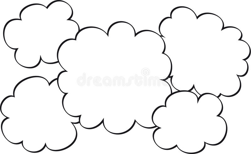 Sketched Clouds Graphic Royalty Free Stock Photography