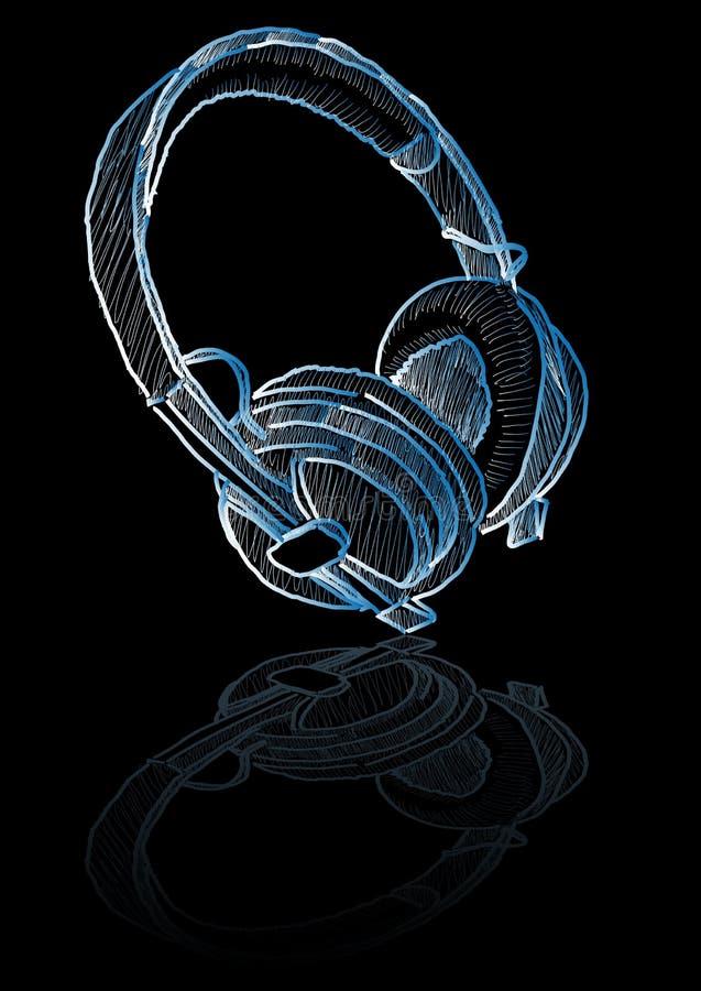 Download Sketched headphones stock vector. Image of pencil, artistic - 6343596