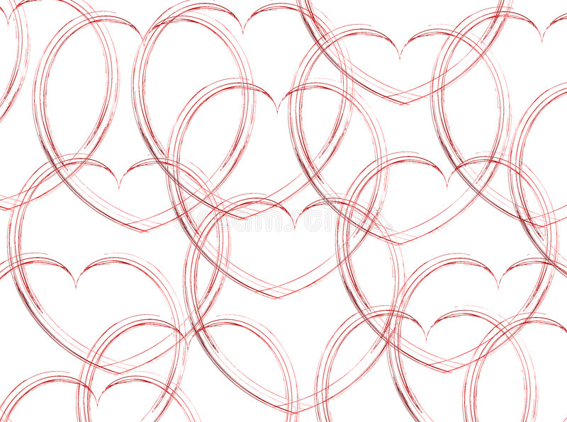 Download Sketched Hearts on White stock photo. Image of design - 1762612