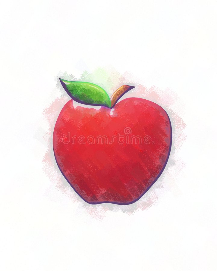 Download Sketched Red Apple Stock Images - Image: 6438644