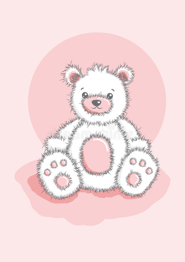 Sketched Teddy Bear Stock Photography