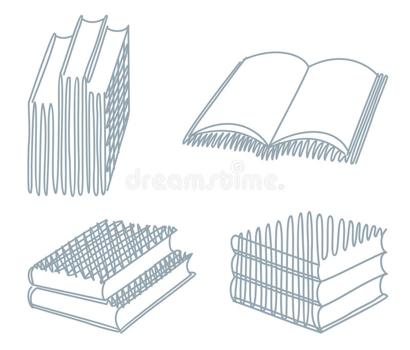Download Sketches of books stock vector. Illustration of blank - 22475009