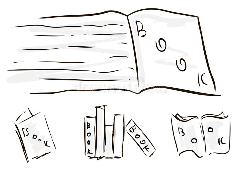 Download Sketches of books stock vector. Illustration of open - 26226101