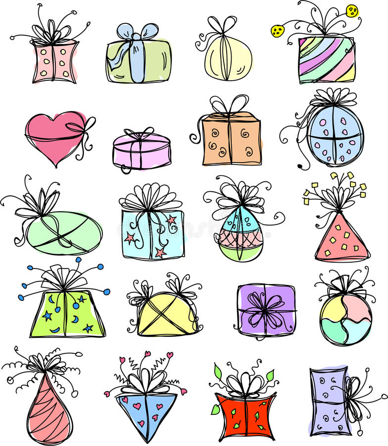 Download Sketches Gift Packages,vector Stock Vector - Image: 21863050