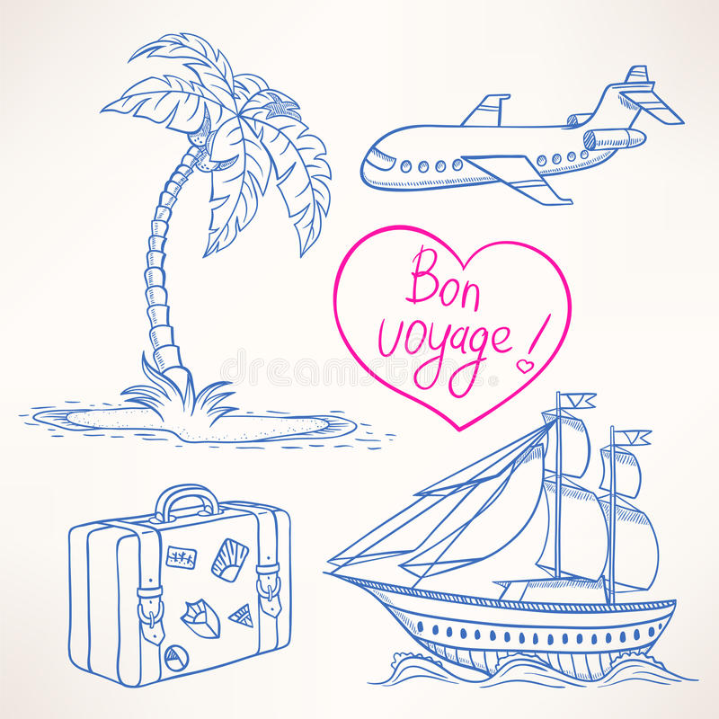 Sketches Of Travel Stock Vector