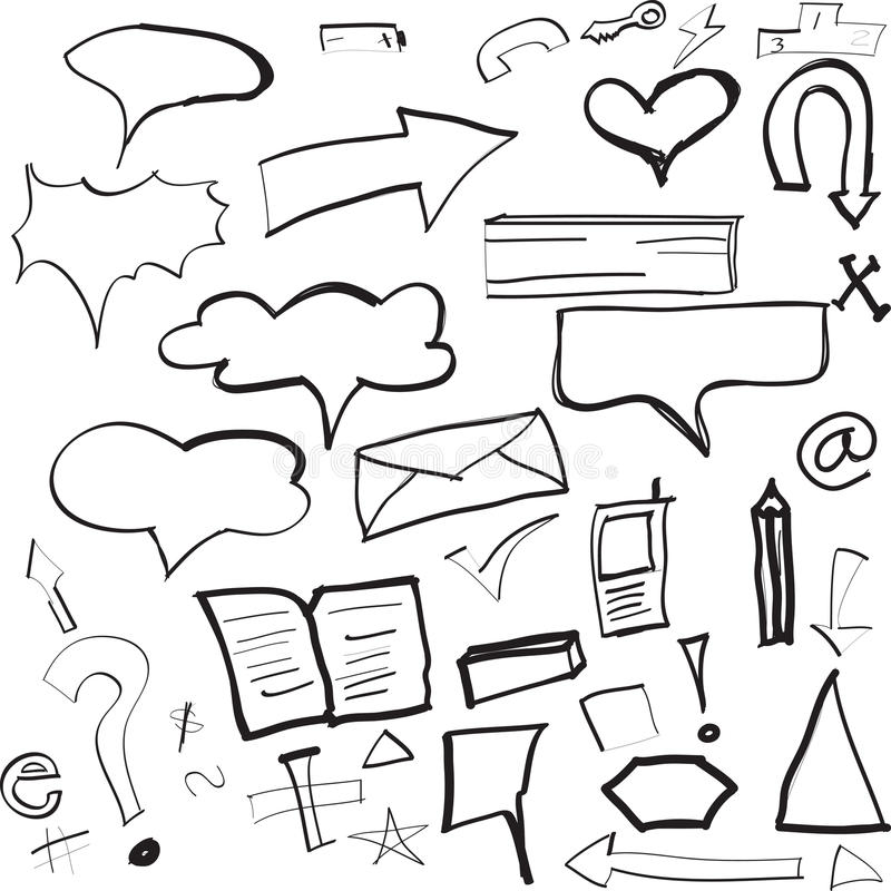 Sketches royalty free illustration