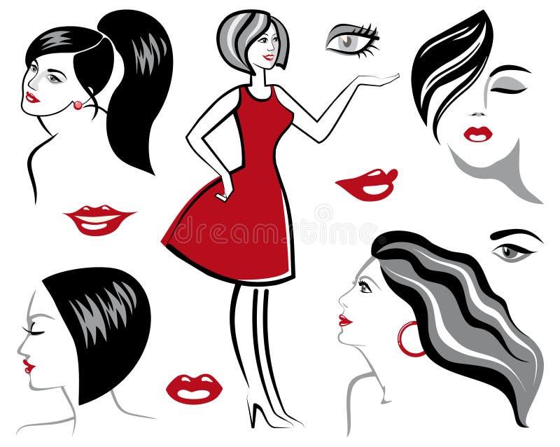 Download Sketches of women stock vector. Image of design, sensua - 20137581