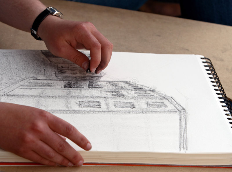 Sketching stock photography