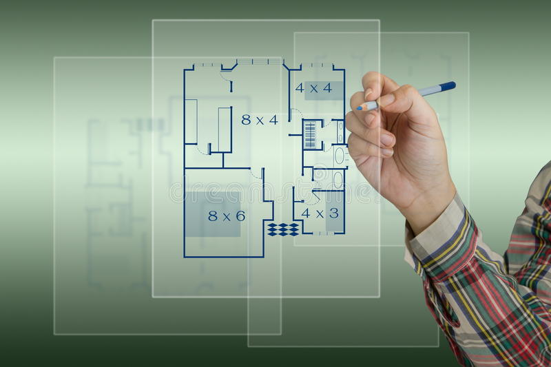 Download Sketching house plan stock illustration. Image of opportunity - 25764460