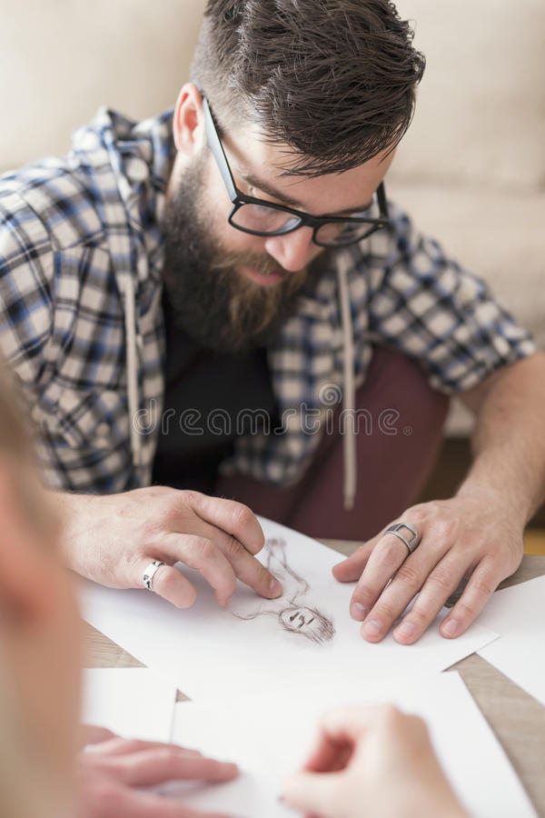 Sketching royalty free stock photography