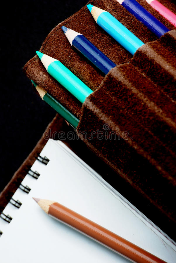 Download Sketchpad And Colored Pencils Stock Photo - Image: 10728232
