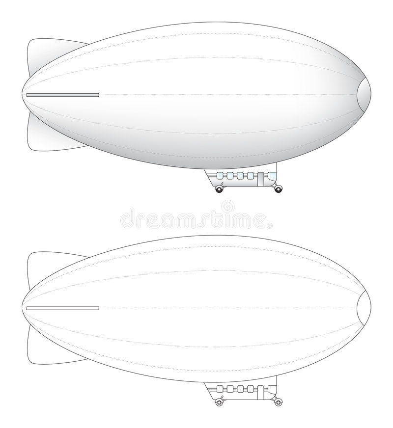 Free Sketchs Of Large Blimp Royalty Free Stock Images - 3718399