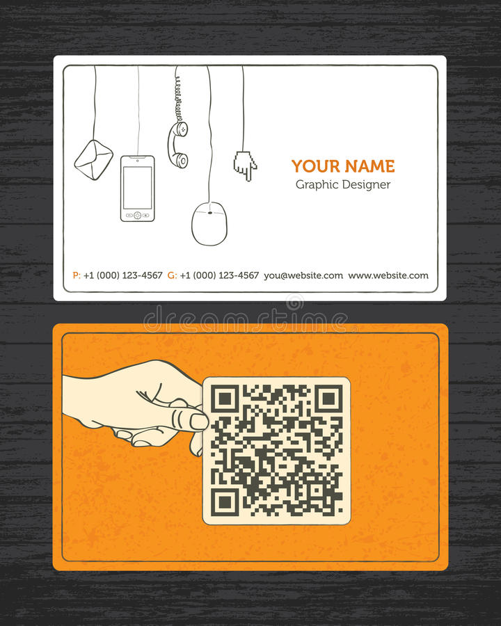 Download Sketchy Business Card stock vector. Image of hand, design - 23874419