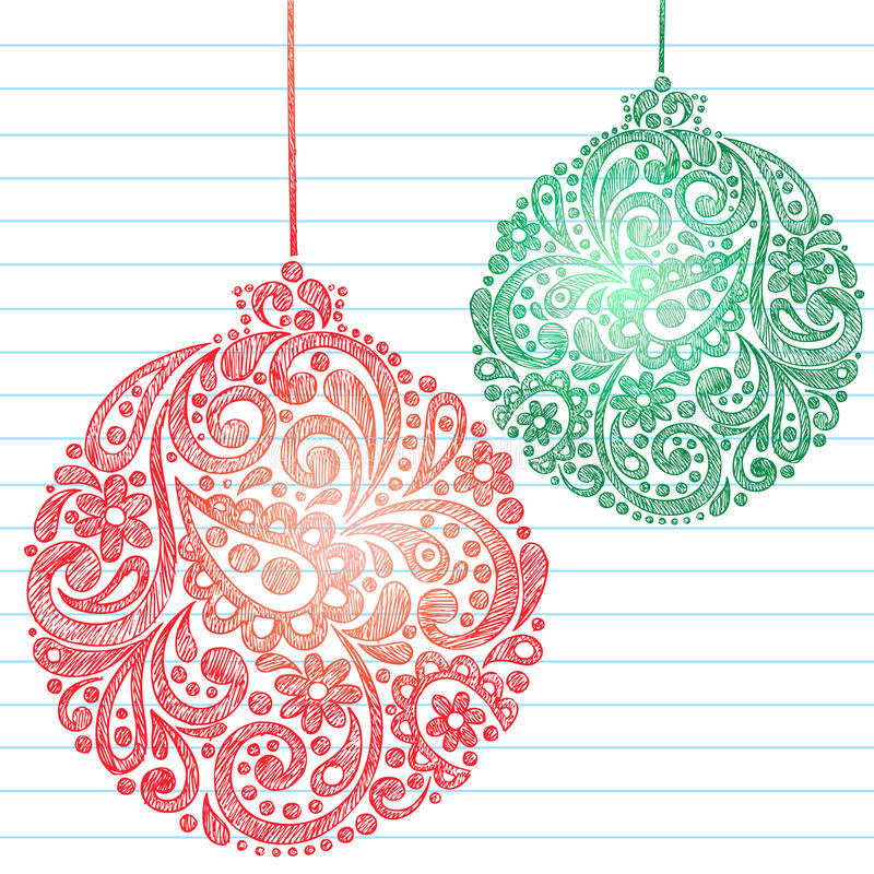 Free Sketchy Christmas Ornaments Notebook Doodles Stock Photo - 11832990