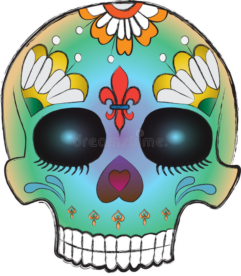 Download Sketchy Day Of The Dead Sugar Skull Royalty Free Stock Image - Image: 24880826