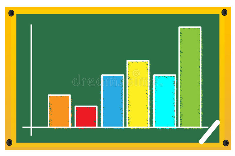 Download Sketchy graph on board stock vector. Image of accounting - 17547902