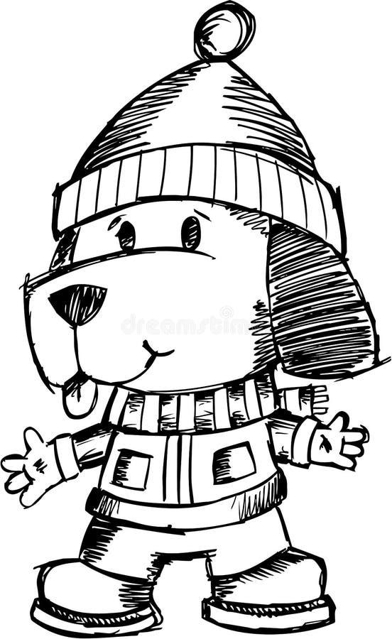 Sketchy Holiday Dog Vector Stock Photos