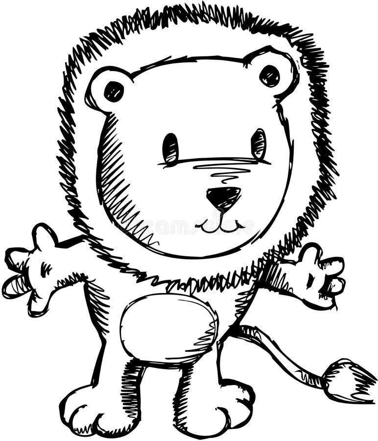 Download Sketchy Lion Vector Illustration Stock Vector - Illustration: 10415949