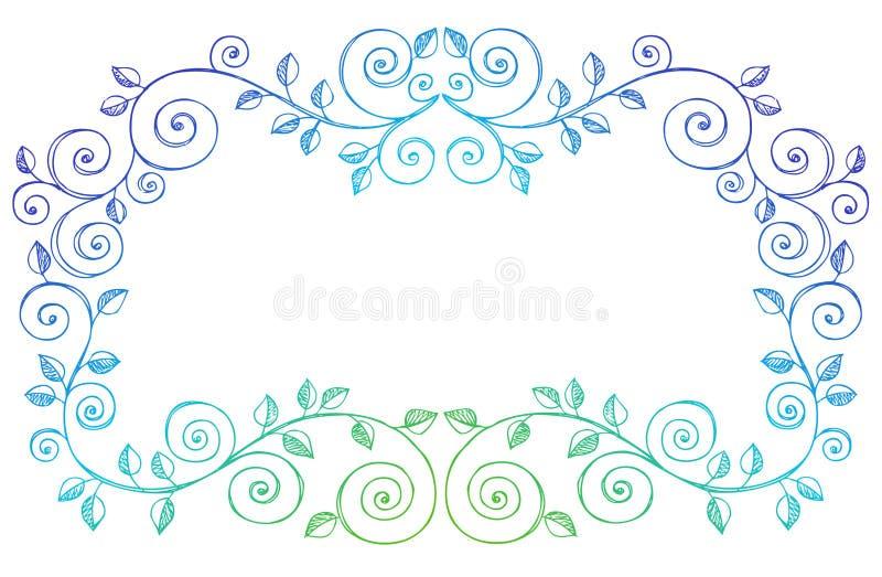 Sketchy Notebook Doodles Swirls Vines Border vector illustration