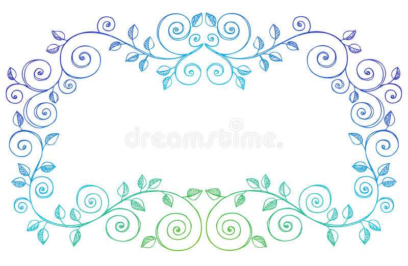Sketchy Notebook Doodles Swirls Vines Border Stock Images