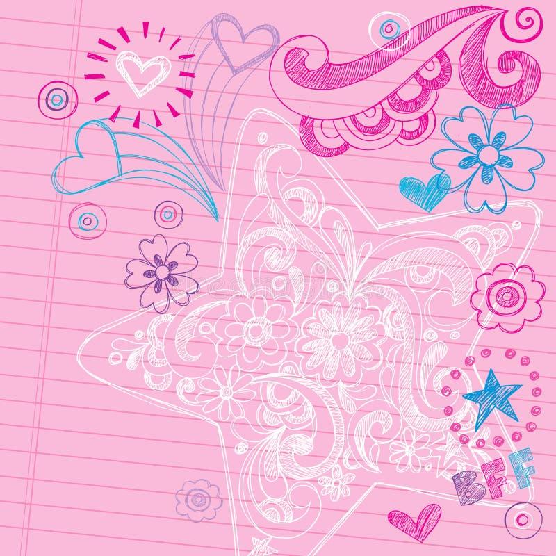 Sketchy School Doodles Vector Design Elements