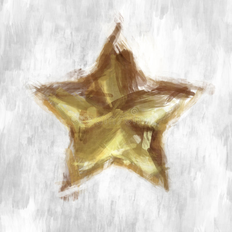 Sketchy star stock illustration