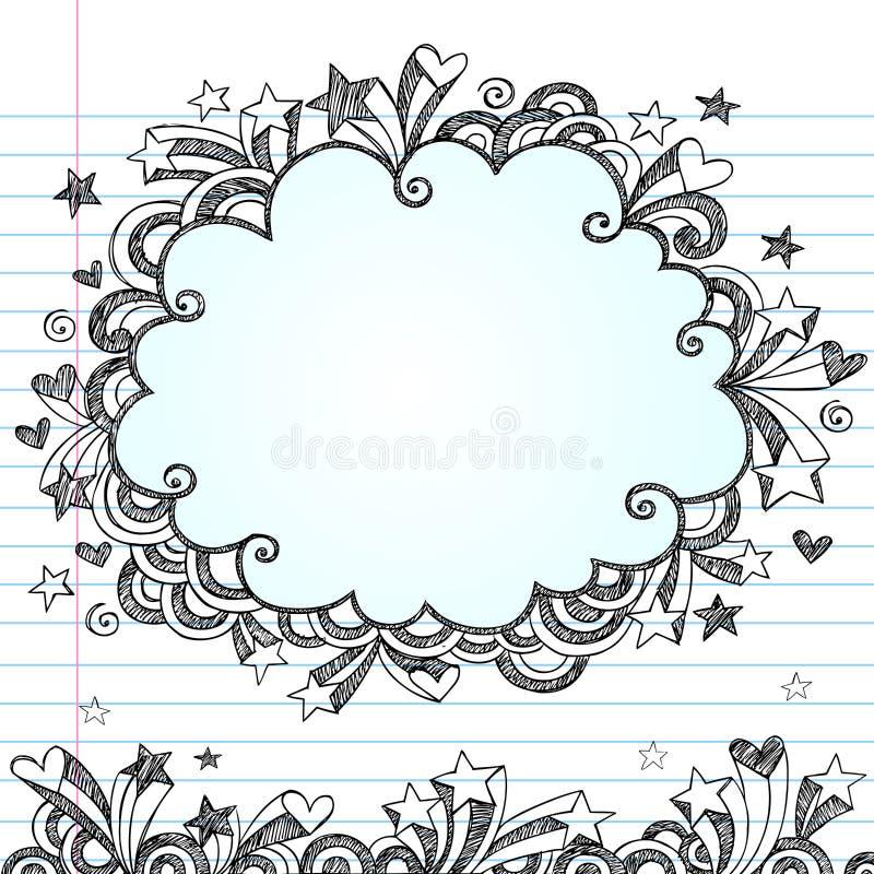 Sketchy vektor för oklarhetsramklotter stock illustrationer