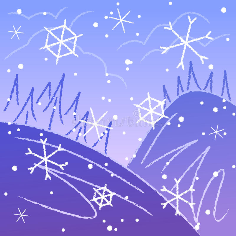 Download Sketchy winter background stock vector. Image of illustration - 21356781