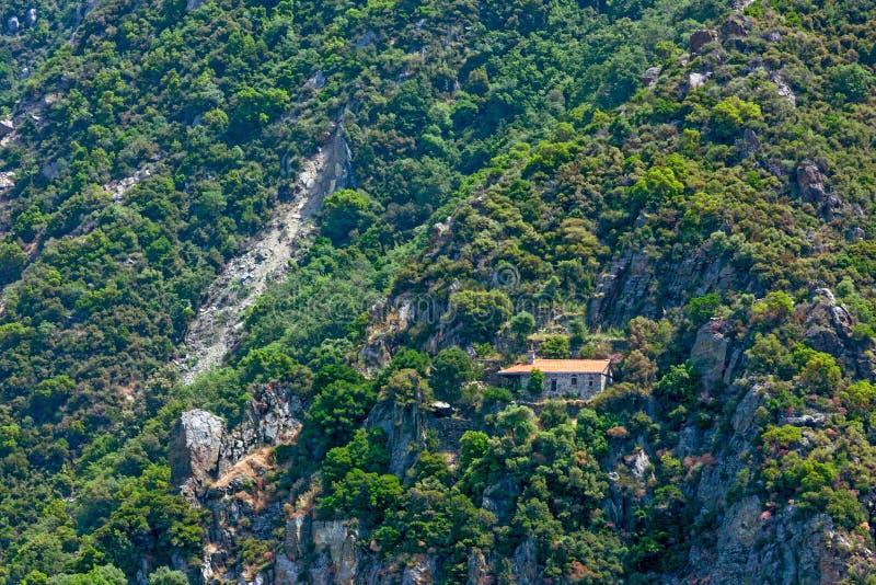 Skete em Monte Athos imagem de stock