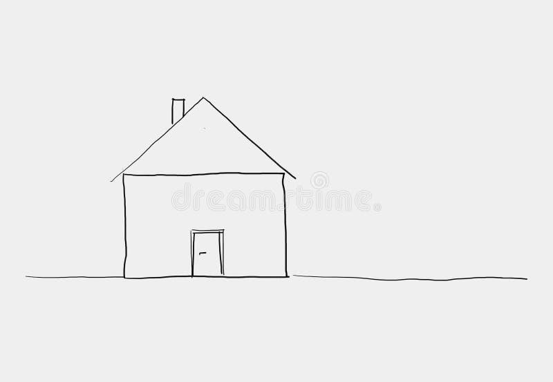 Sketh mignon de maison illustration libre de droits