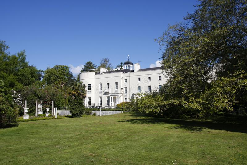 Sketty霍尔历史的房子在斯旺西,威尔士 免版税库存照片