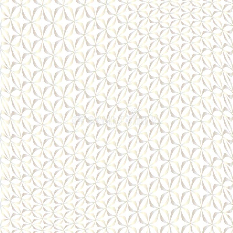 Skev geometrisk modell för silvervit vektor illustrationer