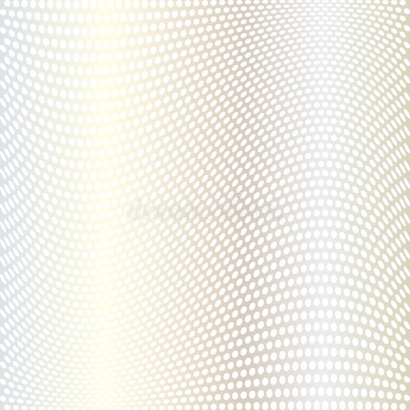 Skev prickmodell för abstrakt silver stock illustrationer
