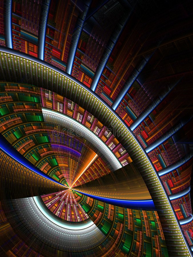 Download Skewed In The Round Abstract Stock Illustration - Image: 4291369