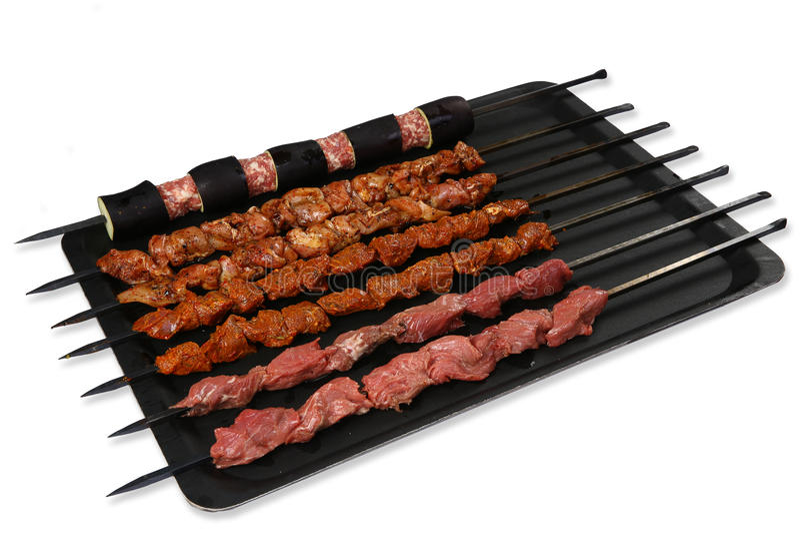 Skewers мясо стоковое фото rf