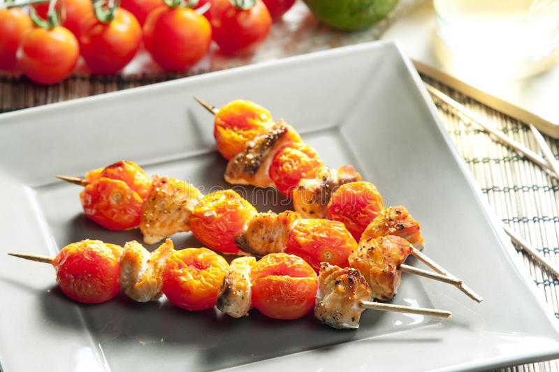 Skewers stock photo